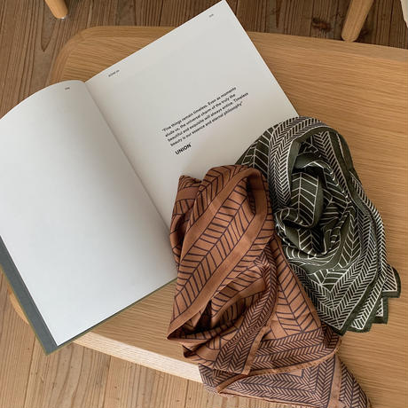 《予約販売》ethnic pattern scarf/2colors_na0191