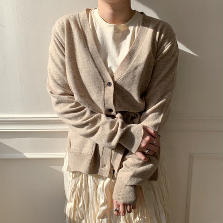 slit knit cardigan/2colors