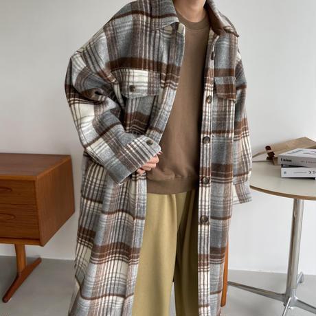 【10月末順次発送】check over shirt jacket/2colors_no0168