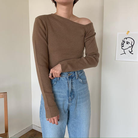 《予約販売》one shoulder pullover/2colors_nt0349