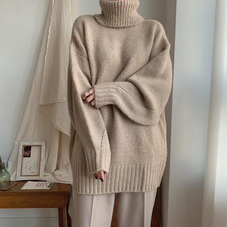 ✳︎予約販売✳︎volume sleeve middle knit/2colors_nt0216