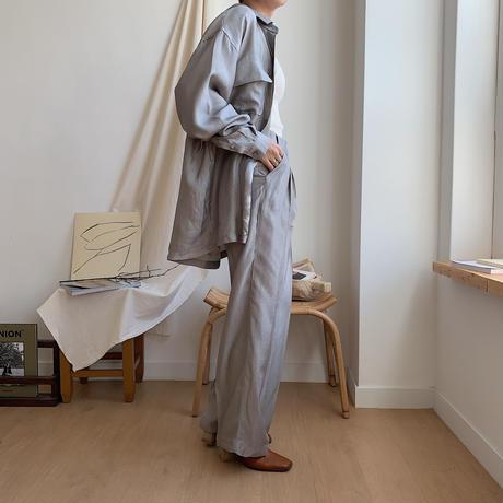 《予約販売》glossy straight pants/2colors_np0148
