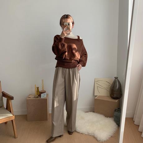 ✳︎予約販売✳︎shoulder marc knit/2colors_nt0236
