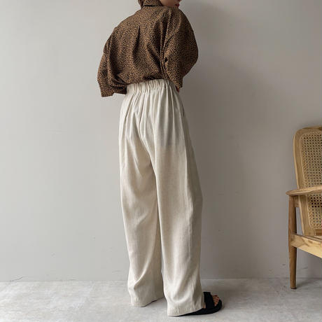 《予約販売》unisex leopard silky shirt_nt0959
