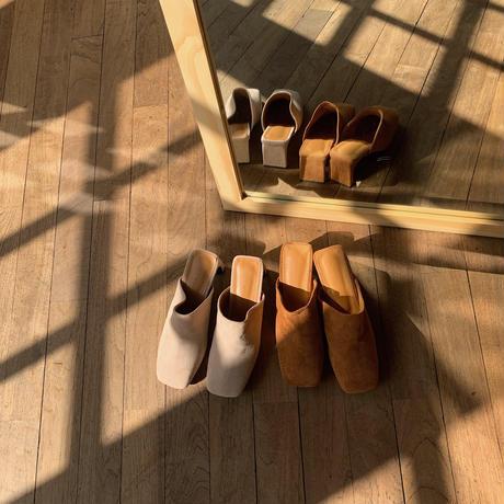 《予約販売》suède heel sabo/2colors_na0219