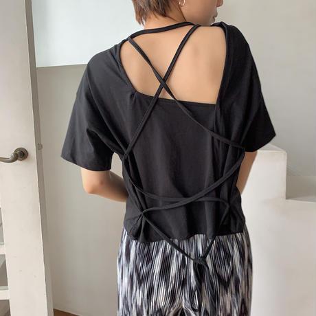 《予約販売》back lace up tee/2colors_nt0507