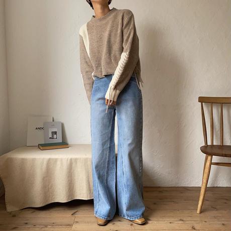 《予約販売》laceup minmal knit/2colors_nt0822