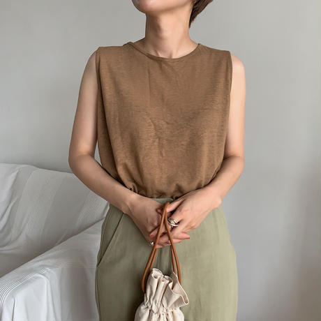 《予約販売》linen simple tank top/3colors_nt0460