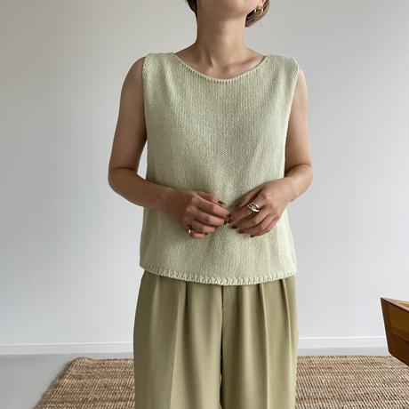 《予約販売》back slit knit vest/2colors _nt1023