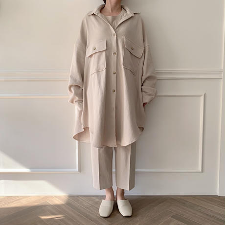 【NOKCHA  original】soft over jacket/ivory