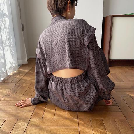 【nokcha original】geometric back open ops/purple_nd0095