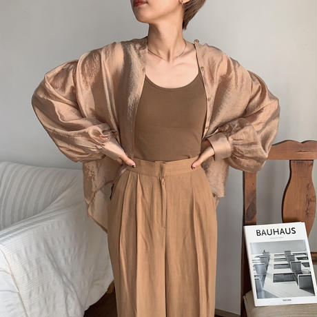 《予約販売》glossy satin blouse/2colors_nt0534