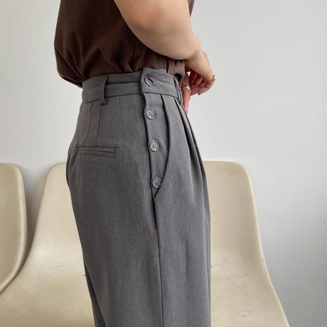 【nokcha original】silhouette pants/charcoal gray_np0401
