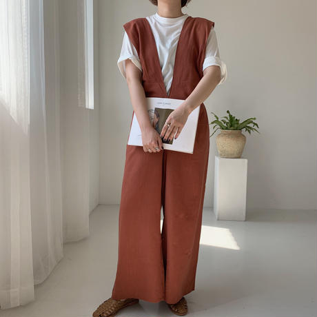 ✳︎予約販売✳︎2way linen all-in-one/2colors