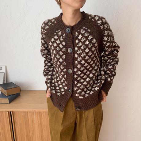 《予約販売》rétro unique knit cardigan/2colors_no0110