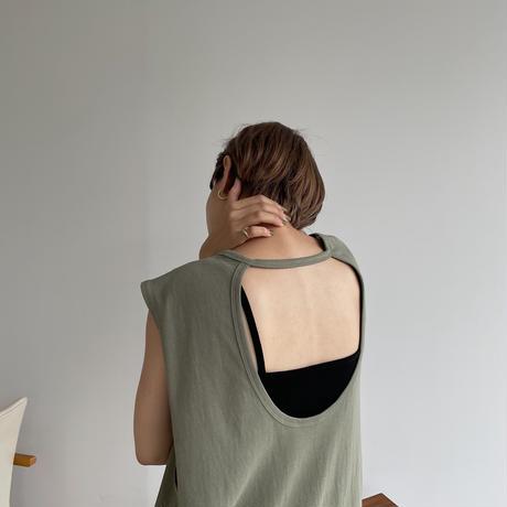 《予約販売》back open lady long ops/2colors_nd0108
