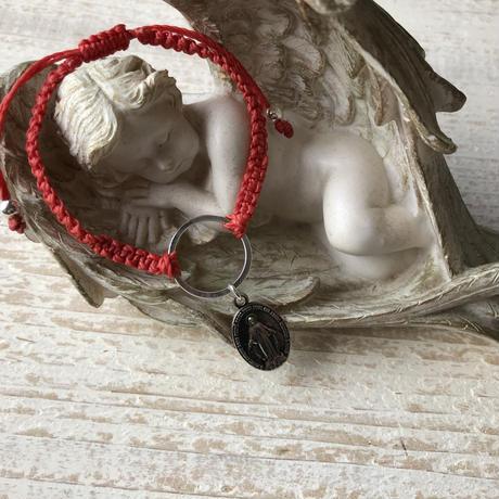 ロウビキ糸のブレスレット(奇跡のメダイ)
