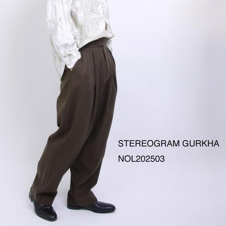 STEREOGRAM GURKHA 【NOL202503】 MEN'S c/#KHAKI
