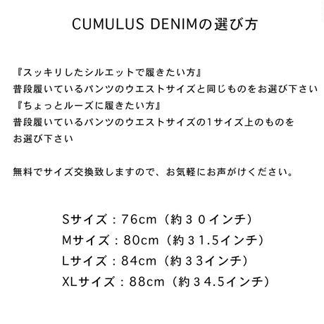 CUMULUS DENIM 【NOL202501】  c/#GRAY