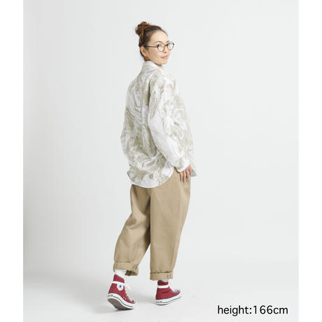 WHIRLPOOL BIG SHIRT c/#KHAKI [NOL202405]