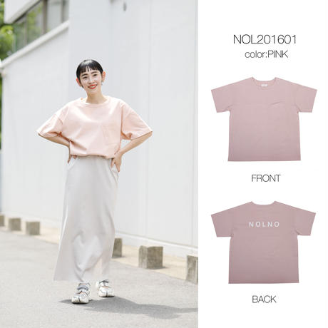 BASQUE  BACK PRINT T c/#PINK [NOL201601]