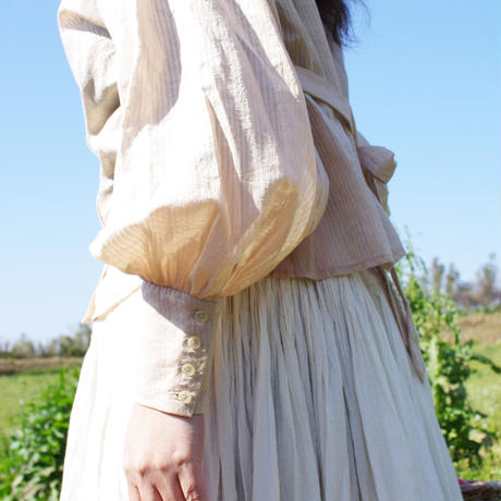 """think of you"" (blouse)《stripe/pink beige》"