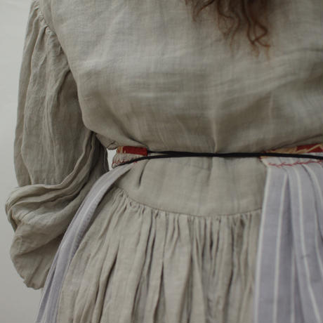 antique stripe cloth apron