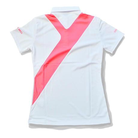 塚田好宣プロオリジナルポロシャツ(レディース) 白/ピンク