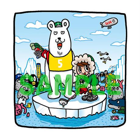 野村タケオオリジナルイラスト「北極オープン」