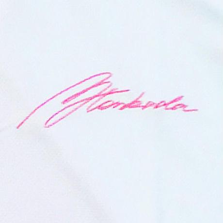 塚田好宣プロオリジナルポロシャツ 白/ピンク