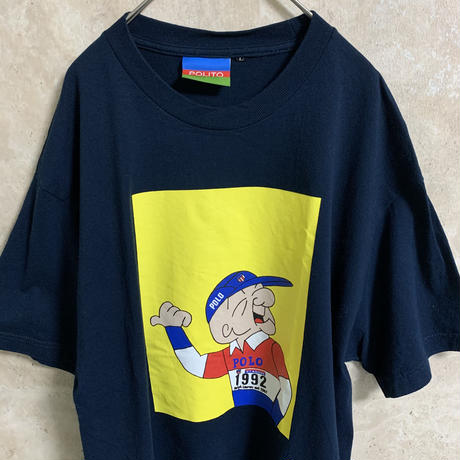 【POLITO】プリントTシャツ【L】【POLO】【メンズ古着】【used】【vintage】