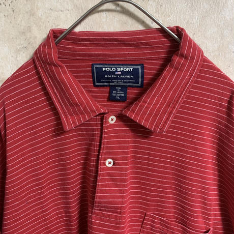 【POLO SPORT】【RALPH LAUREN】ボーダーポロシャツ【XL】【メンズ古着】【used】【vintage】