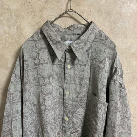 【MUGGER】総柄レーヨンシャツ【2XL】【MADE IN JAPAN】【メンズ古着】【used】【vintage】