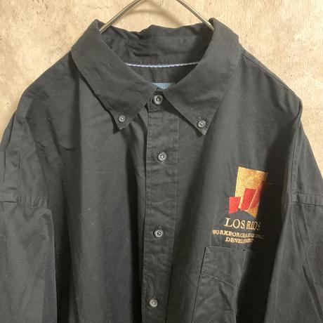 【CHESTNUT HILL】ワークシャツ【2XL】【企業ロゴ】【メンズ古着】【used】【vintage】