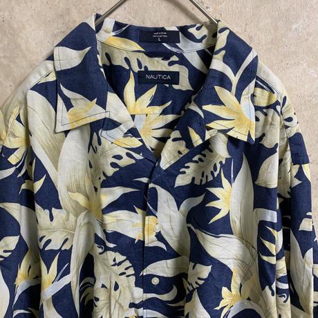 【NAUTICA】アロハシャツ【L】【S/S】【メンズ古着】【used】【vintage】