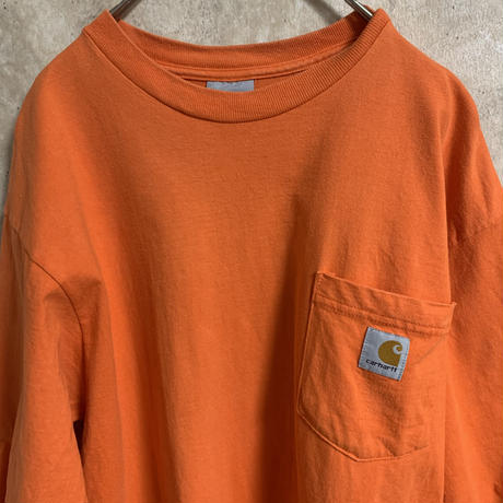 【carhartt】ポケットTシャツ【L程度】【メンズ古着】【used】【vintage】