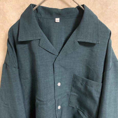 オープンカラーシャツ【FREE】【ボックスシルエット】【メンズ古着】【used】【vintage】