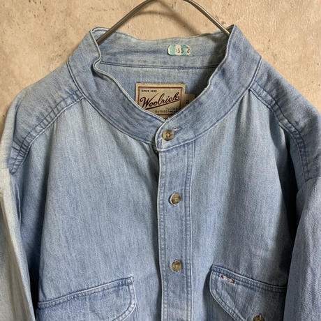 【WOOLRICH】デニムシャツ【XL】【MADE IN USA】【メンズ古着】【used】【vintage】