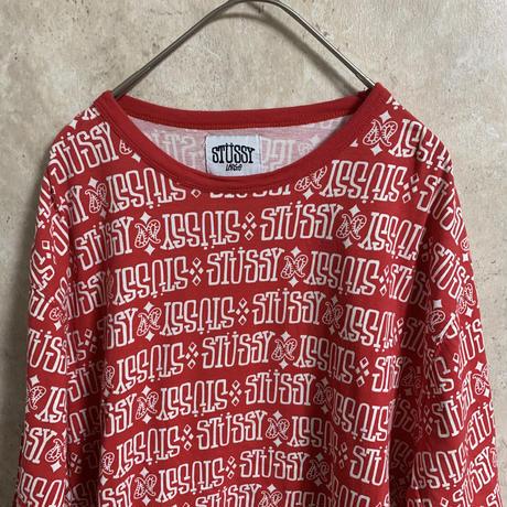 【STUSSY】総柄Tシャツ【L】【メンズ古着】【used】【vintage】