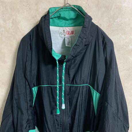 【b.i.GEAR】ナイロンジャケット【XL】【メンズ古着】【used】【vintage】
