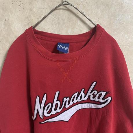 【ovb】ロゴスウェット【XXL相当】【old varsity brand】【nebraska】【メンズ古着】【used】【vintage】