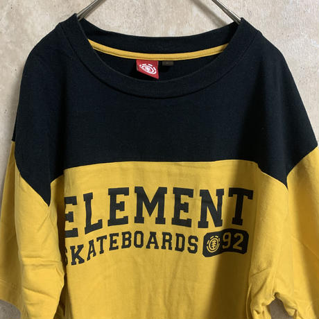 【ELEMENT】バイカラーTシャツ【L】【メンズ古着】【used】【vintage】