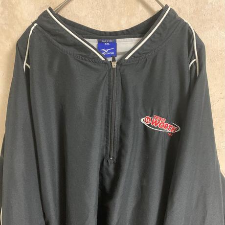 【mizuno】ハーフジッププルオーバージャケット【XXL】【チームロゴ】【2001】【メンズ古着】【used】【vintage】