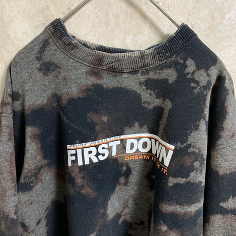【FIRST DOWN】プリントブリーチスウェット【M】【メンズ古着】【used】【vintage】