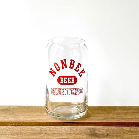 BEER HUNTERS GLASS   red