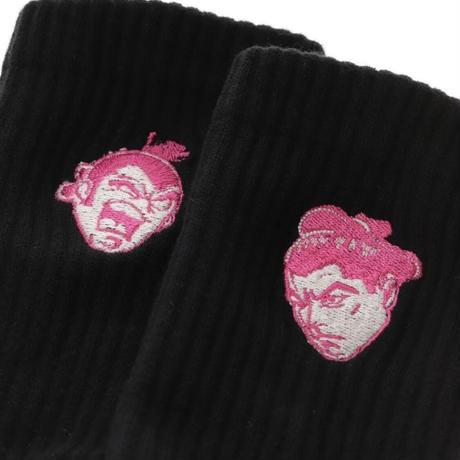 千代の富士×ウルフマン  art socks(刺繍)