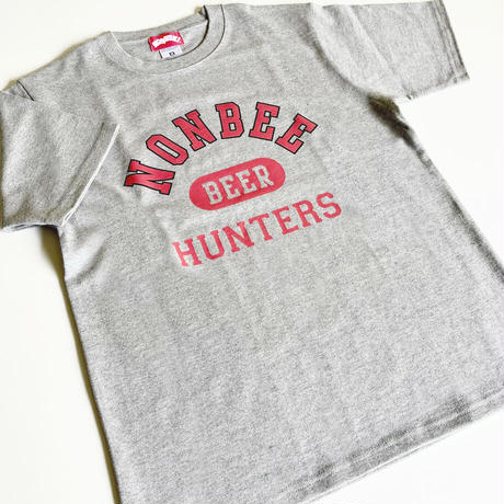 """BEER HUNTERS TEE  """"limited color """" grey/red"""