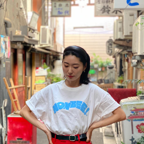 NONBEE  LOGO T-SHIRT white/light blue