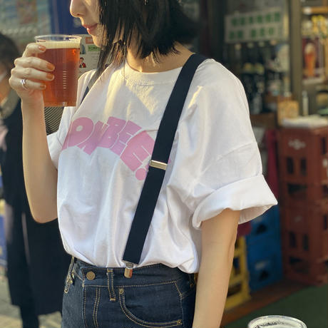NONBEE LOGO T-SHIRT  white/pink