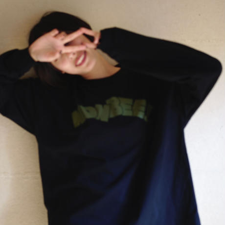 NONBEE LONG SLEEVE T-SHIRT  black/khaki